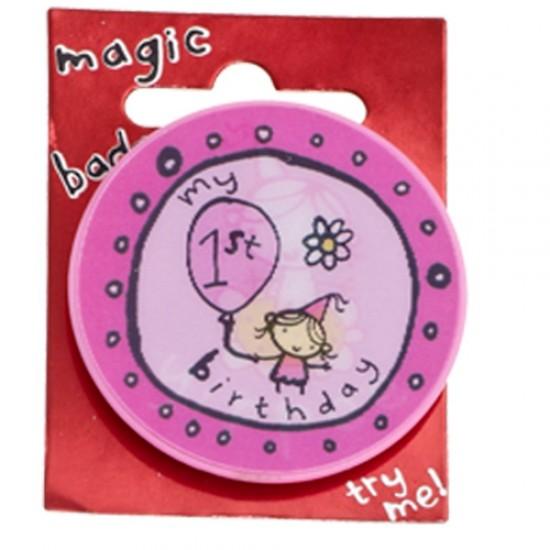 1st Birthday Magic Holographic Badge