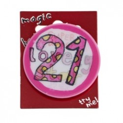 21st Birthday Magic Holographic Badge