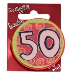 50th Birthday Magic Holographic Badge