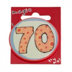 70th Birthday Magic Holographic Badge