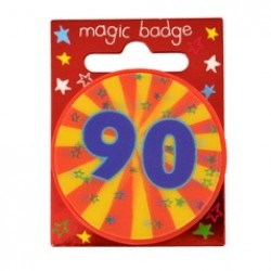 90th Birthday Magic Holographic Badge