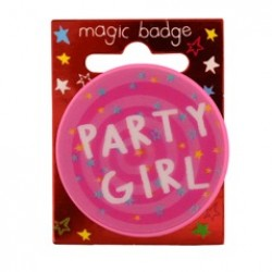 Party Girl Magic Holographic Badge