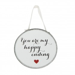 Round Shaped You Are My Happy Ending Luxury Plaque